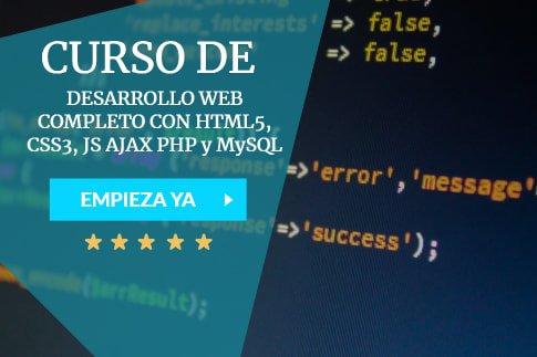 cursos para aprender desarrollo web con php