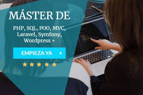 máster en programación PHP online