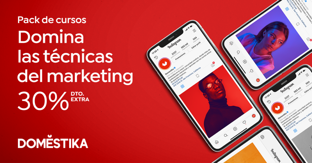 pack cursos marketing domestika