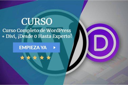 Curso Curso Completo de WordPress + Divi, ¡Desde 0 Hasta Experto!